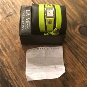 La Mer Jewelry - LA MER Collection neon yellow NWOT.